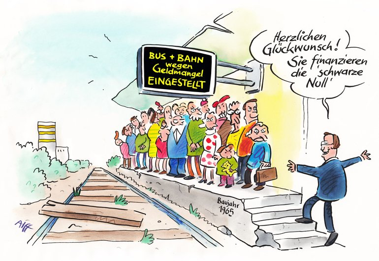 Cartoon ÖPNV-Finanzierung